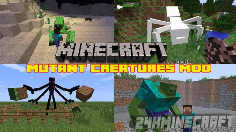 Mutant Creatures Mod for Minecraft (1.12.2/1.10.2/1.8.9/1.7.10)