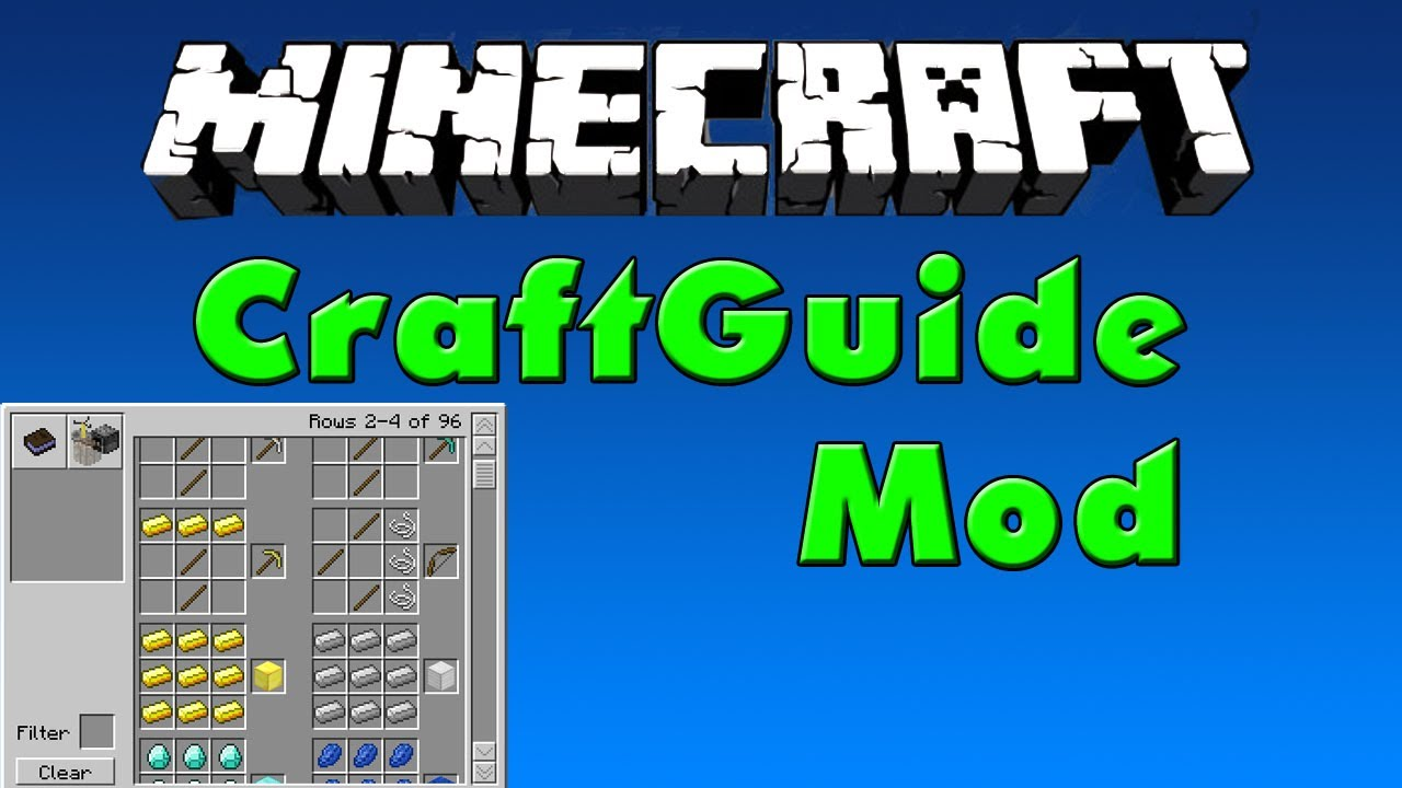 CraftGuide Mod for Minecraft – RecipeBook