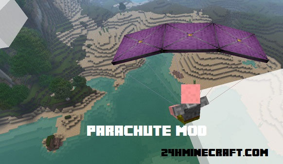Parachute Mod for Minecraft (1.11.2/1.10.2/1.9.4)