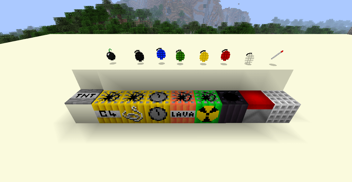 More Explosives Mod for Minecraft (1.9/1.8.9/1.7.10)